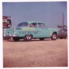 Morbec Mags 1955 Chevy. Morbec mags were made in Ft. Worth, Texas and are very collectible wheel. Vintage Drag Racing - JLE