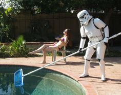 Stormtrooper Pool Cleaning Service. Yes, for real! #LoL