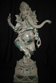 Items similar to Ganesh Nataraja 4 Hands Dancing Statue Bronze Brass - Hindu God Ganesha Spiritual Collectable Art Sculpture on Etsy Hand Dancing, Dancing Figures, Nataraja, Brass Statues, New Gods, Elephant Head, Ancient Civilizations, Ganesha, Deities