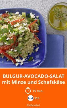 Leckere Kombi aus Avocado, Schafskäse und Minze. Gut zum Vorbereiten!