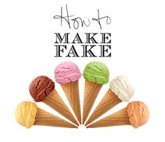 How to Make Fake Ice Cream via @OC Family Magazine 's art director @Monica Garrett #magazine #design #foodstyling
