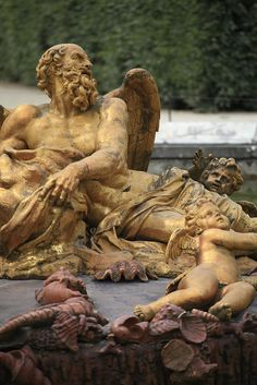 Statue in the gardens of the Versailles Palace in Paris