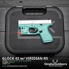 "Omaha Outdoors on Instagram: ""Glock 42 Tiffany Blue Pistol with Viridian Reactor 5 Red Laser Follow @omahaoutdoors if you haven't done so already. Ready to ship to your FFL."