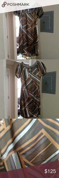 SALE BcbgMaxAzria dress small BcbgMaxAzria dress small absolutely gorgeous dress with beautiful colors and pattern BCBGMaxAzria Dresses
