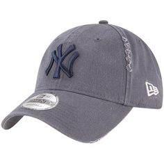 dd967a448cd50 New York Yankees New Era Rip Right Adjustable Hat - Gray