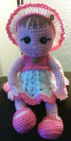 Crochet amigurumi baby doll with dress outfit Pattern Only