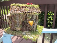 Berry Beautiful Fairy House with Furniture by KimmiCatCreations, $175.00