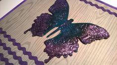 Sizzix Butterfly. Card / Perhonen. Kortti tai taulu. Shrink Plastic, Paper Art, Butterfly, Cards, Handmade, Papercraft, Hand Made, Maps, Butterflies