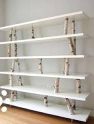 Image result for white birch tree stump side table
