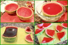 Gelatin in watermelon peels