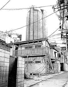 27-Kiyohiko-Azuma-Architectural-Urban-Sketches-and-Cityscape-Drawings-www-designstack-co