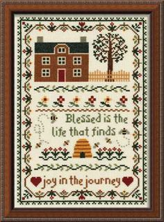 Joy In the Journey, counted cross-stitch