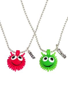 Bff Smiley Face Poof Necklaces | Girls Jewelry By Trend Accessories | Shop Justice