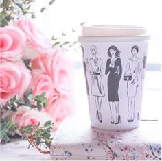 fashion illustration coffee cup