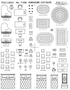 Free Printable Furniture Templates furniture template