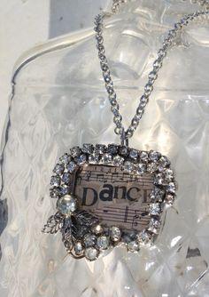 Soldered Jewelry Ideas   Rhinestones and Vintage Paper Joined In ...   Soldered Jewelry ideas