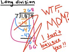 long division  this is hilarious!  I don't think they even teach this in our schools anymore!