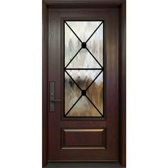 Single entry door - 3/4 size Manchester wrought iron design - FerrumTech collection