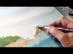 """Seagulls and Surf at Sunset Bay"" demo, Clip #9 the two small right cliff areas"