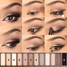 Urban decay naked 2 pallete makeup look silver grey gray.