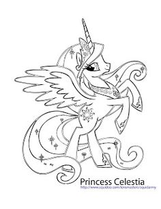 My Little Pony Coloring Pages - Princess celestia