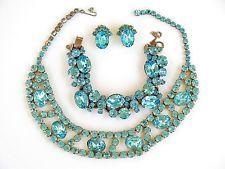 Vintage Juliana (D&E ) Aqua Parure - Necklace, Bracelet & Earrings