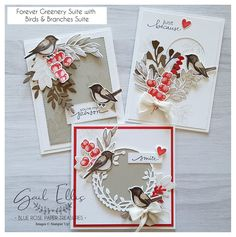 Stampin' Up! birds and branches, forever greenery Stampin Up Christmas, Christmas Cards, Christmas Paper, Beach Christmas, Prim Christmas, Holiday Cards, Youre My Person, Stampin Up Catalog, Bird On Branch