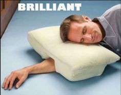 now, this is my kind of pillow! i definitely sleep like this