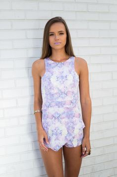 Trista Pastel romper! Dress it up with some pumps or down with some ankle booties. Either way it is gorgeous! For more unique pieces like this one visit www.modlook29.com!
