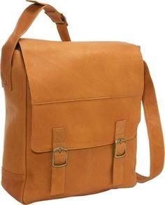 Le Donne Leather Vertical Computer Messenger  - via eBags.com!