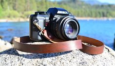 Leather Camera Strap Handmade Personalized Oiled by TahoeMade, $32.00