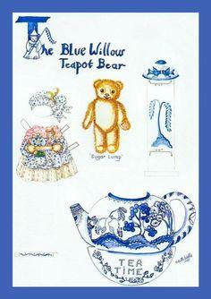 The Blue Willow Teapot Bear, Sugar Lump 1