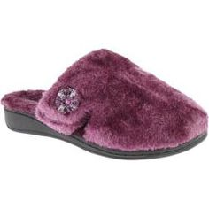 Women's Vionic with Orthaheel Technology Gemma Luxe Slipper Plum