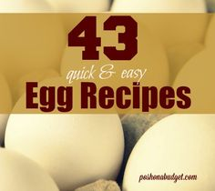 43 Quick and Easy Egg #Recipes