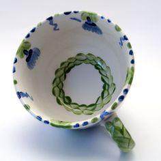 Tassen & Häferl der Familie VertBleu! Die Grün-Blaue Designfamilie von Unikat-Keramik. Das wohl einzigartigste Keramik Geschirr der Welt!