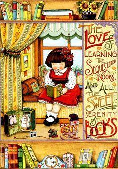 La dulce serenidad de los libros. My favorite Mary Englebreit