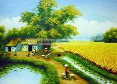 Tranh làng quê Việt Nam 005 - www.HỘI HỌA SĨ VIỆT NAM.com