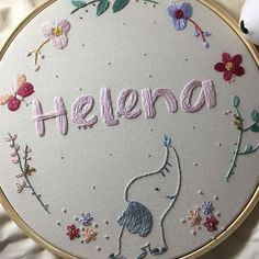 Embroidery Hoop Decor, Hand Embroidery Patterns Flowers, Embroidery On Clothes, Creative Embroidery, Embroidery Art, Embroidery Designs, Arts And Crafts, Crafty, Hand Embroidery Designs