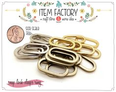 20Pcs Ring Rectangle METAL RINGS for beltsstrap by ITEMFACTORY, $4.75
