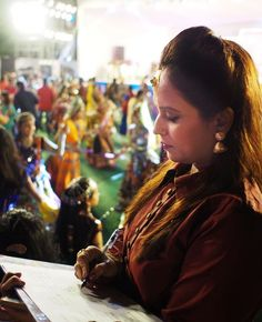 a judge for a cultural event of garba