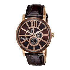 Customize your look-chic, bet on the Men's Watch Kenneth Cole mm) the finishing touch that suits many styles Fast Delivery Armani Watches For Men, Seiko Watches, Cool Things To Buy, Stuff To Buy, Look Chic, Hermes, Brown Leather, Mens Sunglasses, Bracelets