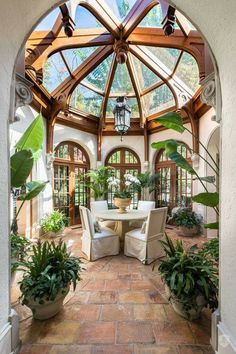 Grand Victorian Style Sun Room dream house luxury home house rooms bedroom furniture home bathroom home modern homes interior penthouse Dream Home Design, My Dream Home, Home Interior Design, Exterior Design, Best Home Design, Green House Design, Bohemian Interior Design, Unique House Design, Interior Garden