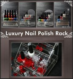 Luxury Nail Polish Acrylic Display Organizer Rack Stand 20 hold With1 Drawer -US $39.99