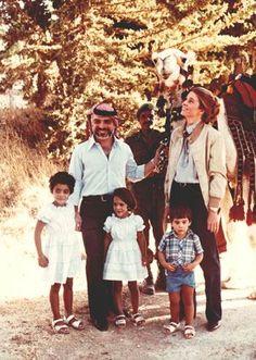 King Hussein and Queen Noor of Jordan...