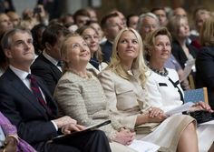 Secretary of State Hillary Clinton and Crown Princess Mette-Marit of Norway