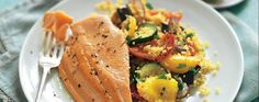 Trout with roast vegetables