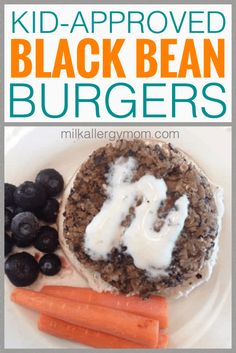 Black Bean Burgers Kids Will Actually Eat. Dairy-free and no egg recipe at Milk Allergy Mom! Dairy Free Eggs, Dairy Free Recipes, Egg Recipes, Vegetarian Recipes, Milk Allergy, Black Bean Burgers, Recipe For Mom, Food Allergies, Black Beans