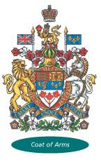 The Canadian Coat of Arms. Want to make a canvas poster of this. Canadian Coat Of Arms, Canada Website, Government Of Canada, Canvas Poster, Canada Day, King George, Flag, Clock, Design Inspiration