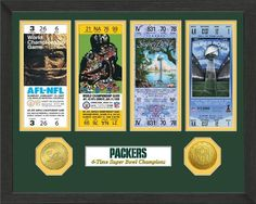 NFL Green Bay Packers SB Championship Ticket Collection *** You can get more details by clicking on the image. (Note:Amazon affiliate link)