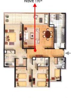 División del feng shui en la casa 3